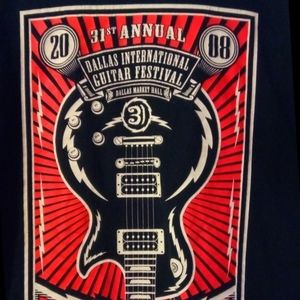 Obey Guitar festival graphic tee B1008